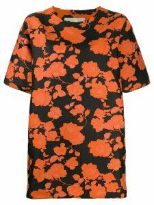 Marques'Almeida floral print T-shirt dress - Black