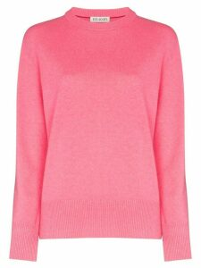 Ply-Knits crew neck jumper - PINK