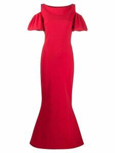 Le Petite Robe Di Chiara Boni cut out shoulder gown - Red