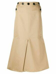 Marni flared-hem button-waist skirt - NEUTRALS