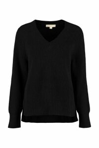 MICHAEL Michael Kors V-neck Ribbed Sweater