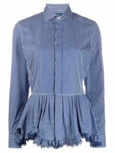 Polo Ralph Lauren ruffled hem striped shirt - Blue