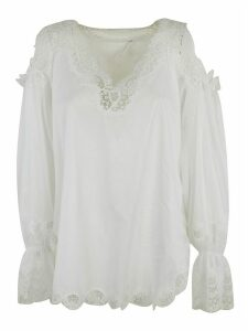 Ermanno Scervino Lace Detail Oversized Top