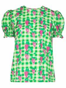 Helmstedt gingham pattern blouse - Green