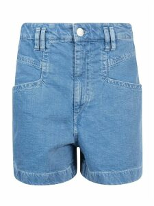 Isabel Marant Denim Rear Patch Shorts