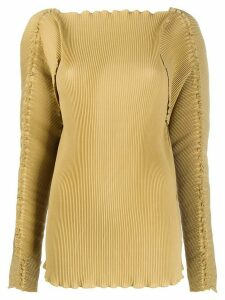 Totême pleated long-sleeve top - NEUTRALS
