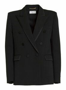 Saint Laurent Double Breasted Wool Blazer