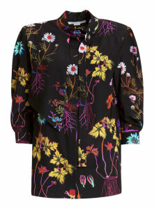 Stella Mccartney Flower Print Silk Blouse