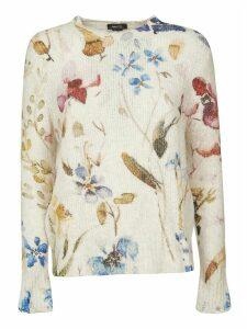 Avant Toi Floral Knit Jumper