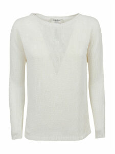 White Linen Sweater