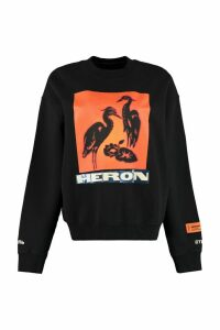 HERON PRESTON Printed Cotton Sweatshirt