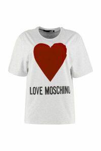 Love Moschino Printed Oversized Cotton T-shirt