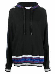 No Ka' Oi metallic-thread hoodie - Black