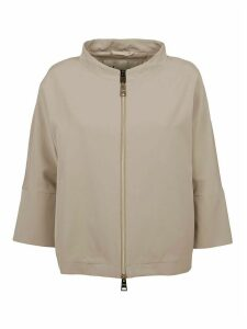 Beige Technical Fabric Jacket