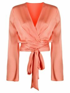 Galvan Corolle wrap blouse - ORANGE