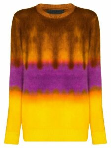 The Elder Statesman gradient-dyed cashmere sweater - Yellow