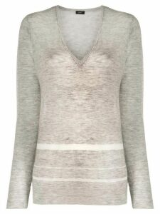 Joseph striped details jumper - Grey