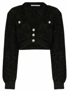 Alessandra Rich crystal button cardigan - Black