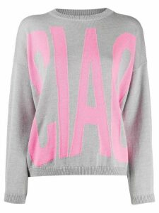 Giada Benincasa Ciao Amore relaxed sweater - Grey