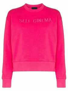 Self Cinema logo embroidered sweatshirt - PINK