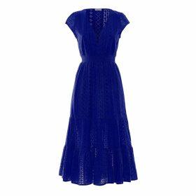 Paolita Virgo Ruffle Midi Dress