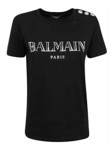 Balmain Ss 3 Btn Metallic Vintage Logo T-shirt