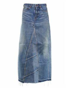 Saint Laurent Denim Long Skirt