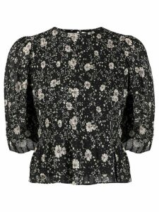 Isabel Marant Étoile elasticated floral print blouse - Black