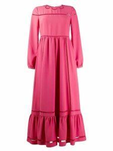 RedValentino long ruffled dress - PINK