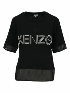 Kenzo Kenzo Logo Dual-material T-shirt