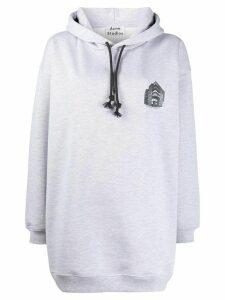 Acne Studios Headquarter-print hoodie - Grey