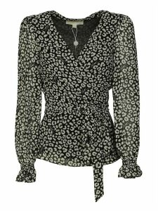 Michael Kors All-over Printed V-neck Top