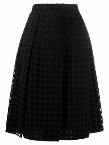 Nº21 A-line mesh skirt - Black