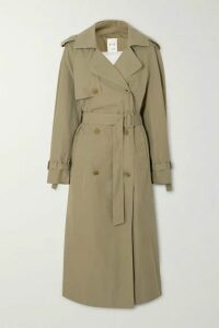 BITE Studios - Organic Cotton-organza Trench Coat - Army green