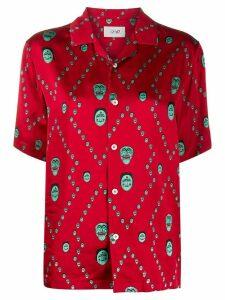 Kirin mask-print shirt - Red