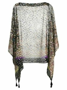 Etro floral patterned kaftan top - Black