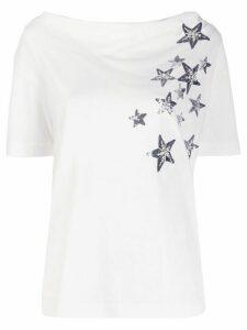 LIU JO sequin-embellished star T-shirt - White