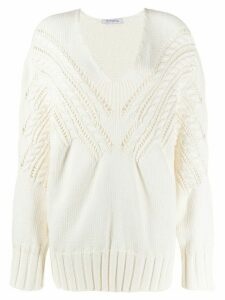 Vivetta chunky knit jumper - White