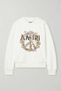 AMIRI - Printed Cotton-jersey Sweatshirt - Ivory