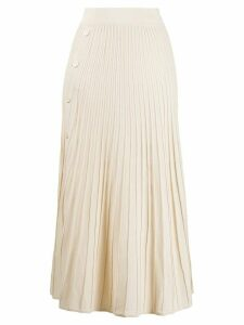 Pinko knitted pleated skirt - NEUTRALS