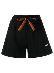 MSGM fluted cotton shorts - Black