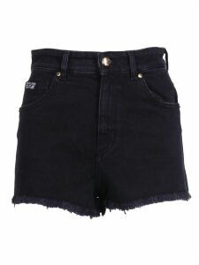 Versace Jeans Couture Fringed Cuff Denim Shorts