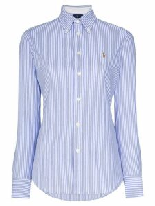 Polo Ralph Lauren logo-embroidered stripe shirt - Blue