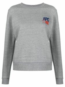 A.P.C. logo print sweatshirt - Grey
