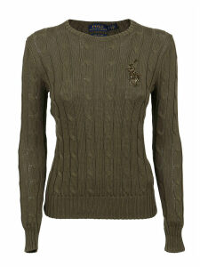 Military Green Cotton Sweater