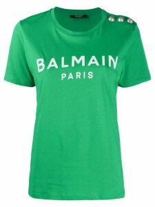Balmain logo-printed T-shirt - Green