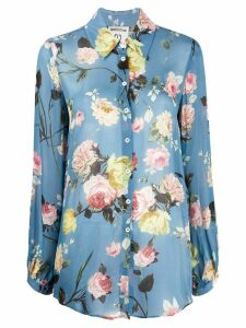 Semicouture long-sleeved floral-print shirt - Blue