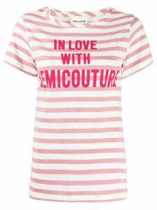 Semicouture striped logo T-shirt - White