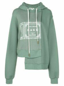 Monse asymmetric hem hoodie - Green