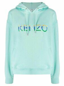 Kenzo beaded logo hoodie - Blue